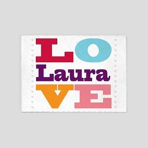 I Love Laura 5'x7'Area Rug