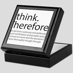 I think therefore I am thinking Keepsake Box