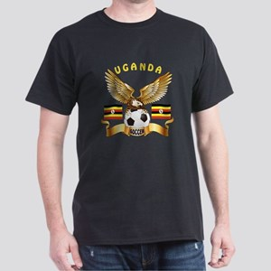 Uganda Football Design Dark T-Shirt