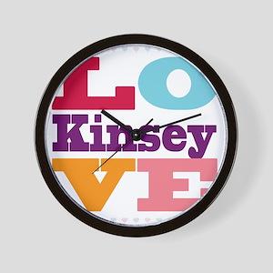 I Love Kinsey Wall Clock