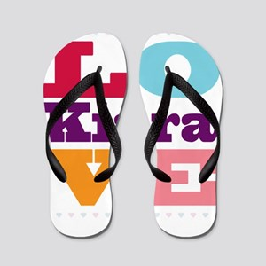 I Love Kiara Flip Flops
