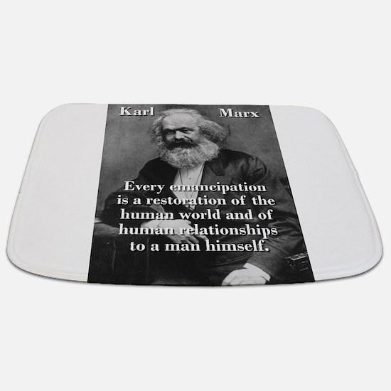 Every Emancipation - Karl Marx Bathmat