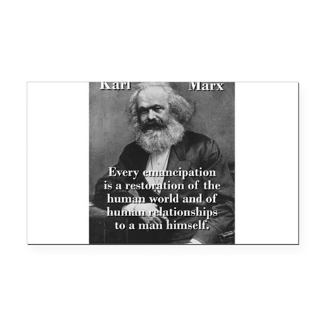 Every Emancipation - Karl Marx Rectangle Car Magne