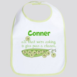Give Peas a Chance Personalized Baby Bib