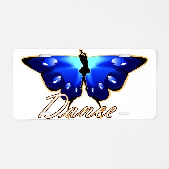 Butterfly Dance Aluminum License Plate