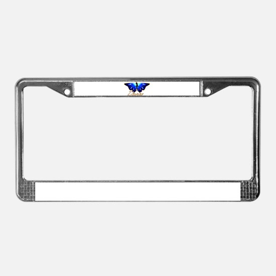 Butterfly Dance License Plate Frame