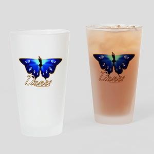 Butterfly Dance Drinking Glass