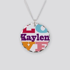 I Love Kaylen Necklace Circle Charm