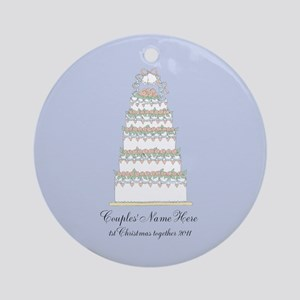 Personalize it Yourself Wedding Christmas Ornament