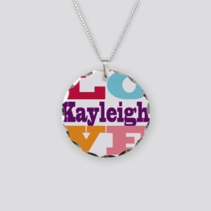 I Love Kayleigh Necklace Circle Charm