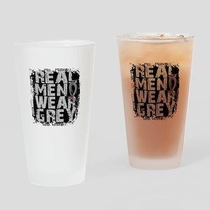 Real Men Diabetes Drinking Glass