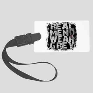 Real Men Diabetes Large Luggage Tag