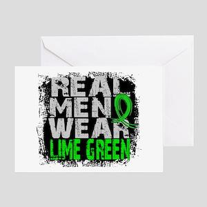 Real Men NH Lymphoma Greeting Card