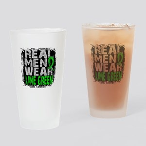 Real Men Lymphoma Drinking Glass
