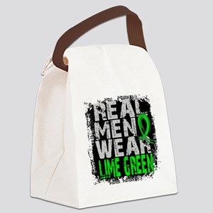 Real Men Lymphoma Canvas Lunch Bag