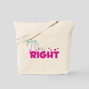 Future Mrs. Right (Grey) Tote Bag