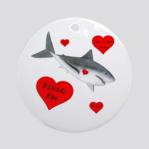 Dream Big Shark Ornament (Round)
