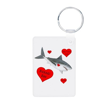 Dream Big Shark Aluminum Photo Keychain