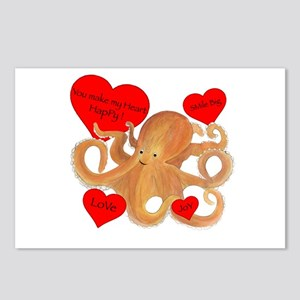 Happy Octopus Postcards (Package of 8)
