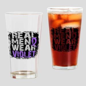 Real Men Hodgkins Lymphoma Drinking Glass