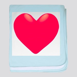Single Red Heart baby blanket
