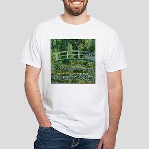 Japanese Bridge Giverny White T-Shirt