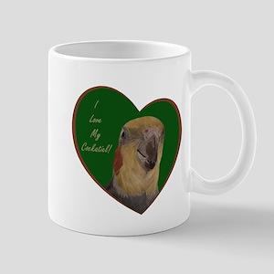 I Love My Cockatiel! Heart Mug