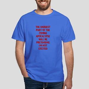 Funny Zombie Apocalypse Dark T-Shirt