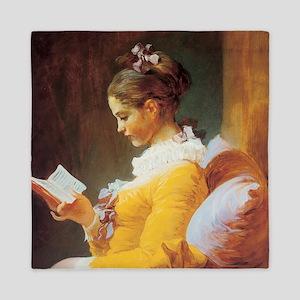 Jean-Honore Fragonard The Reader Queen Duvet