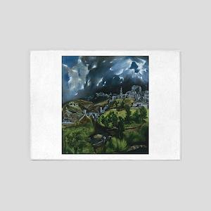 El Greco View of Toledo 5'x7'Area Rug