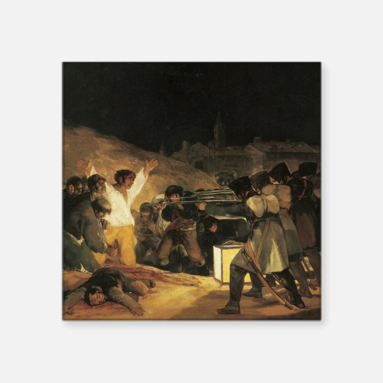 Francisco de Goya The Third Of May Square Sticker