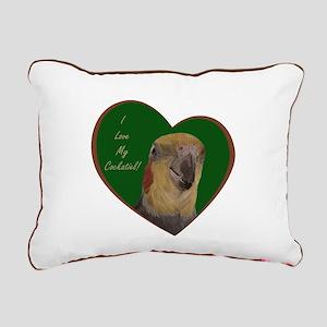 I Love My Cockatiel! Heart Rectangular Canvas Pill