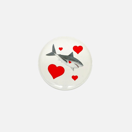 Shark Valentine Mini Button