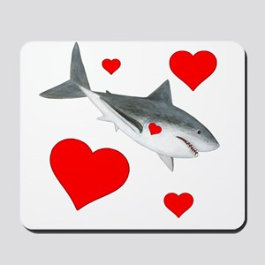 Shark Valentine Mousepad