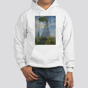 Woman with a Parasol by Monet Hooded Sweatshirt