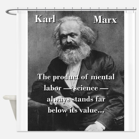 The Product Of Mental Labor - Karl Marx Shower Cur