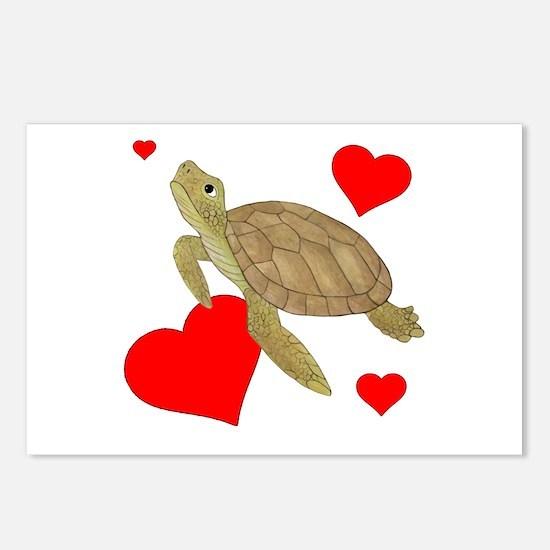 Valentine Turtle Postcards (Package of 8)