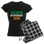 Pray Husband Irish Women's Dark Pajamas