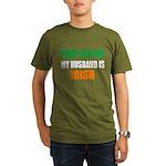 Pray Husband Irish Organic Men's T-Shirt (dark)