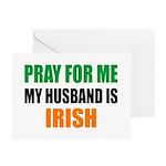 Pray Husband Irish Greeting Cards (Pk of 10)