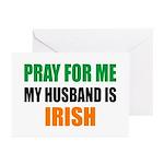 Pray Husband Irish Greeting Cards (Pk of 20)