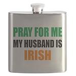 Pray Husband Irish Flask
