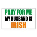 Pray Husband Irish Sticker (Rectangle)