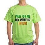 Pray Wife Irish Green T-Shirt