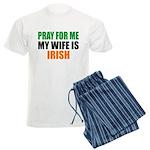 Pray Wife Irish Men's Light Pajamas