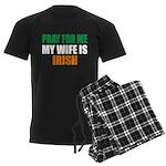 Pray Wife Irish Men's Dark Pajamas