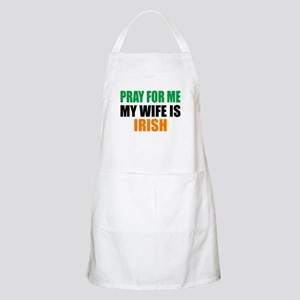 Pray Wife Irish Apron
