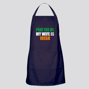 Pray Wife Irish Apron (dark)