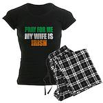Pray Wife Irish Women's Dark Pajamas
