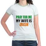 Pray Wife Irish Jr. Ringer T-Shirt